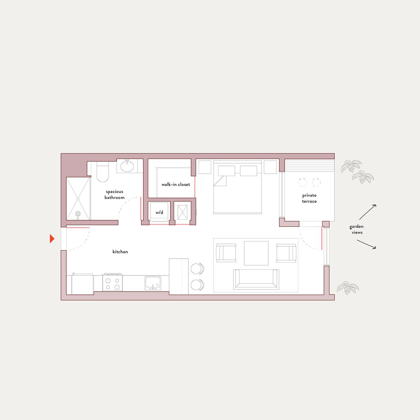 Plan 1 – Studio