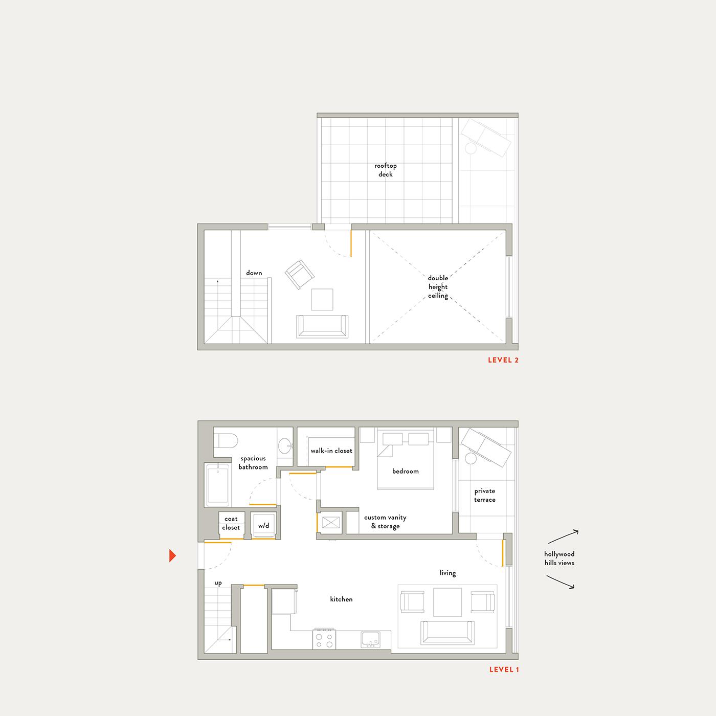 Plan 10 – 1 Bedroom Penthouse