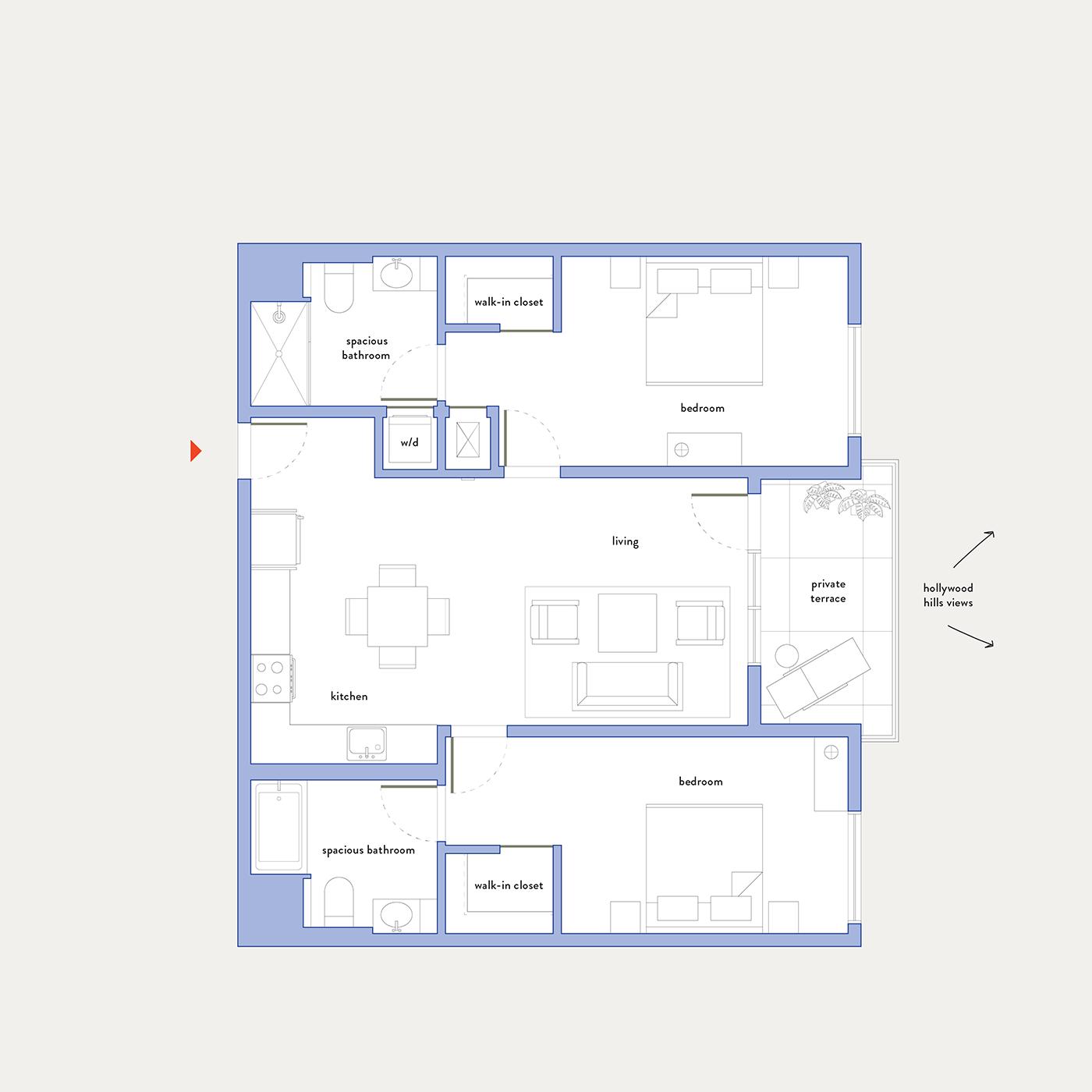 Plan 15 – 2 Bedroom