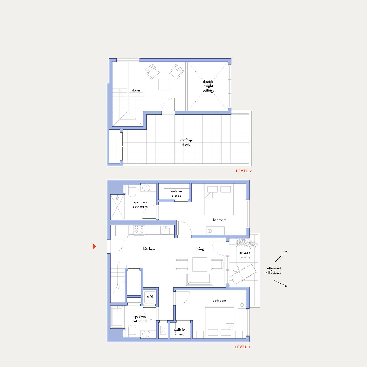 Plan 16 – 2 Bedroom Penthouse