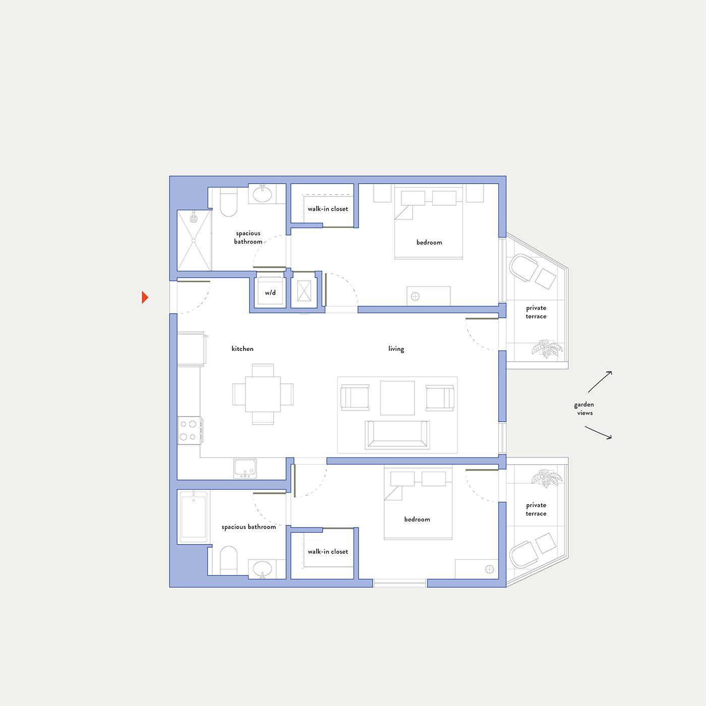 Plan 17 – 2 Bedroom