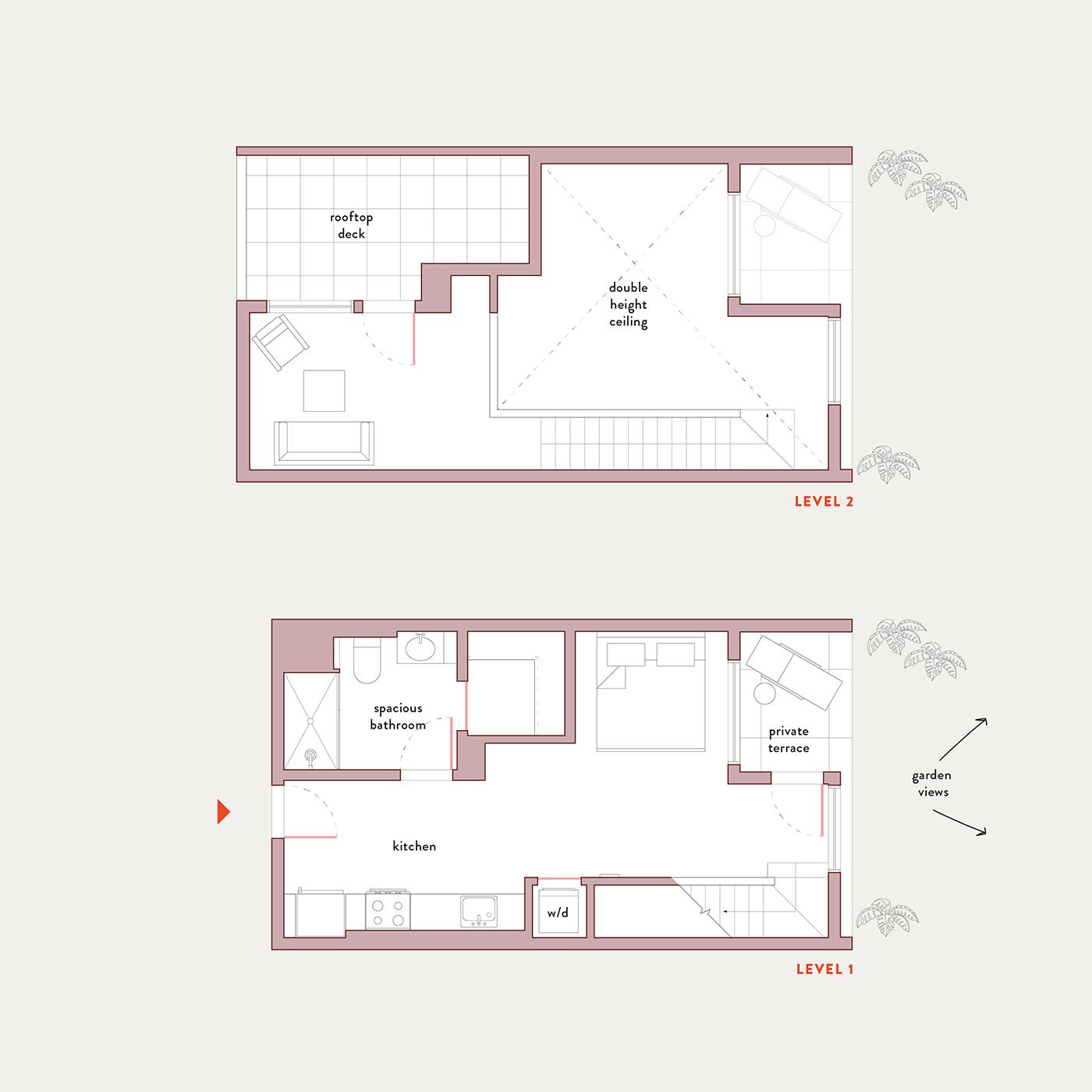 Plan 2 – Studio Penthouse