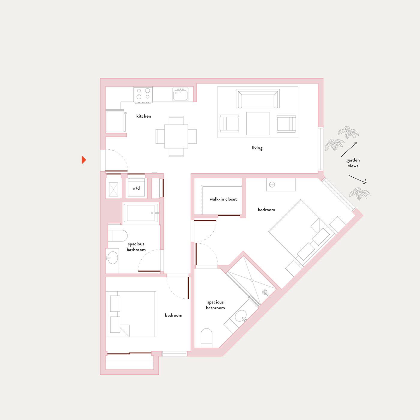 Plan 20 – 2 Bedroom