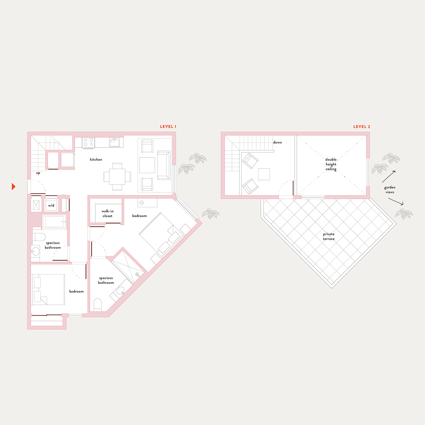 Plan 21 – 2 Bedroom Penthouse