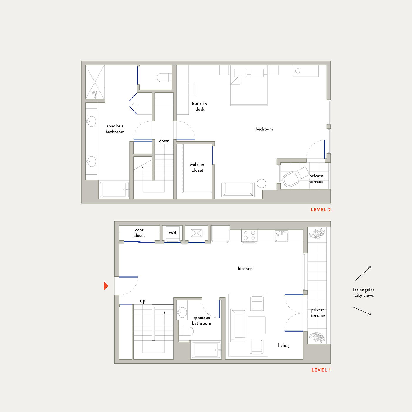 Plan 23 – 1 Bedroom Townhouse