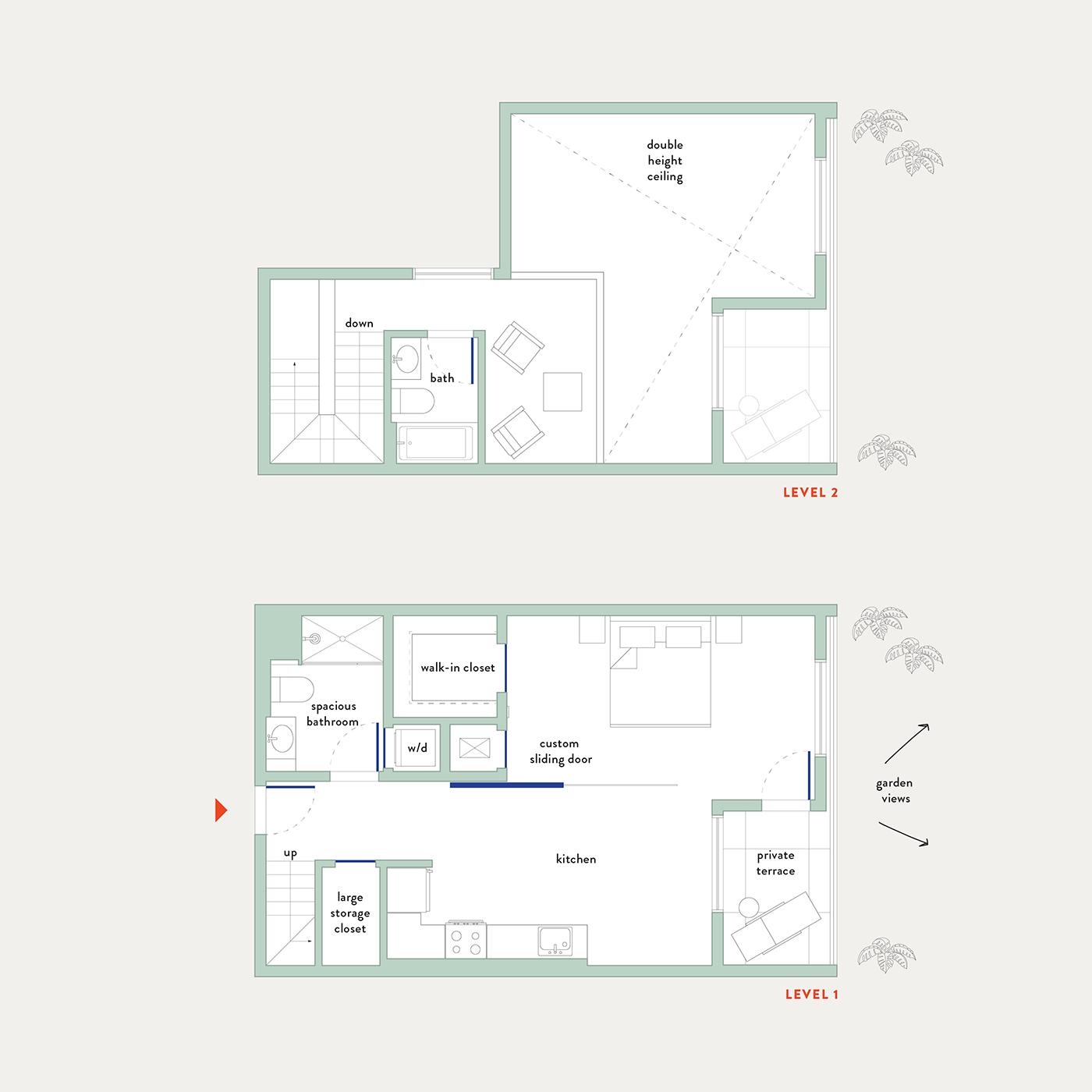 Plan 5B – 1 Bedroom Flex