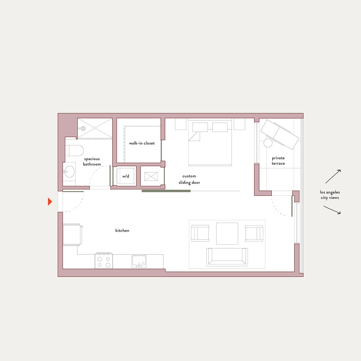 Plan 6 – 1 Bedroom Flex