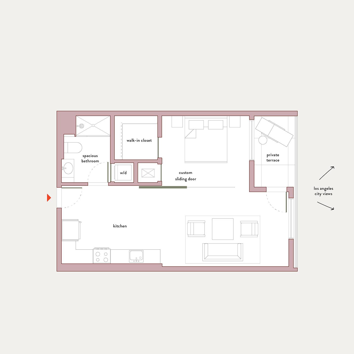 Plan 6 – 1 Bedroom Flex