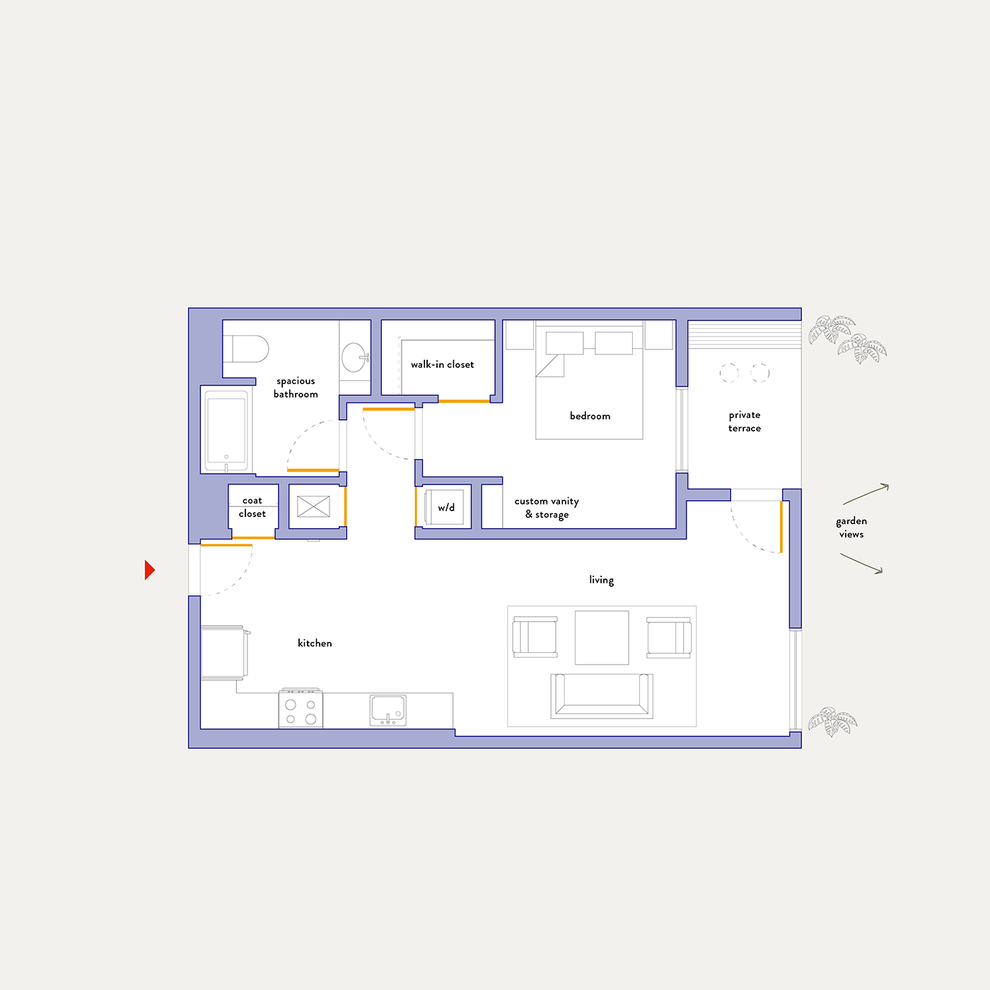 Plan 7 – 1 Bedroom