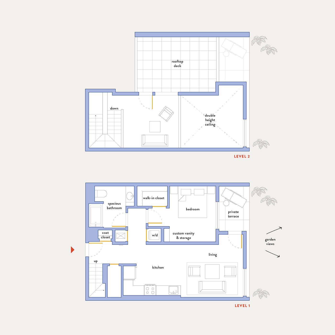 Plan 8 – 1 Bedroom Penthouse